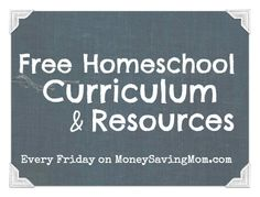 HUGE list of free printable worksheets, curriculum, and more!