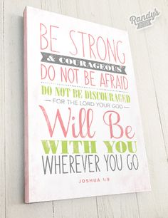 Bible Verse on Canvas, Joshua 1:9