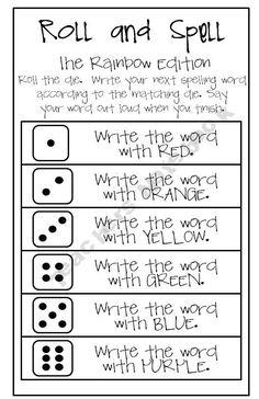 Fun way to practice spelling words
