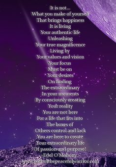 Living an Authentic Life Quotes | visit edelomahony com