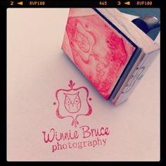 Custom stamp for Winnie Bruce Photography by Corina Nielsen