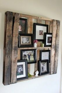 Pallet to showcase/bookcase