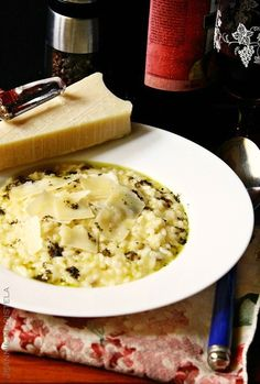Parmesan Risotto (with pesto)