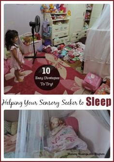 Tips and strategies for helping children with sensory processing difficulties (SPD) get to sleep at night. Find out more at Mummy Musings an...
