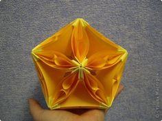 Master class Kusudama: Kusudama Bubble Drop.  Master class on paper.  Photo 1