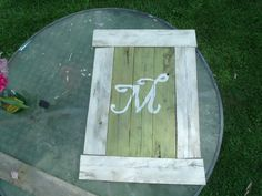 Personalized wood sign made from wood pallets.