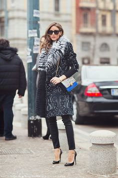 oliviapalermo, fashion weeks, winter style, outfit, street styles