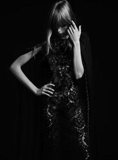 Edie Campbell by Hedi Slimane For Saint Laurent Paris . Spring 2013.
