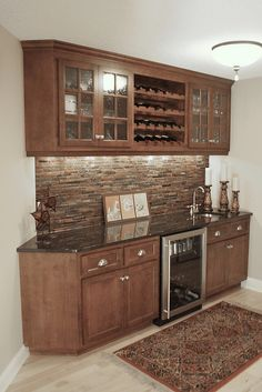 This would be a great basement bar area.