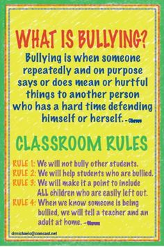 Civics & Citizenship - Classroom rules, focus on bullying.