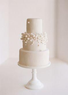 Simple, modern wedding cake.