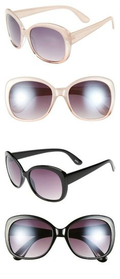 Oversized sunglasses add a touch of glamour to every summer outfit! $12