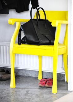 Céline bag. Chair by Jens Fager. Photo by Mia Linnman