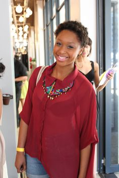 Try a more laid back look this Valentine's Day, a la Minnie Dlamini.