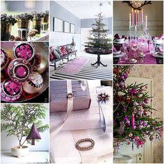 sugar plums, xmas trees, pink christmas, purple christmas, boxes, christma idea, purpl christma, happy holidays, holiday decor