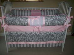 Precious! pink babi, 18900, baby bedding, bed set, babydesignsbyelm, babi girl, grey, babi bed, bedding sets