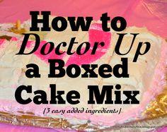 box cake, cake mixes, cake recip, cake doctor