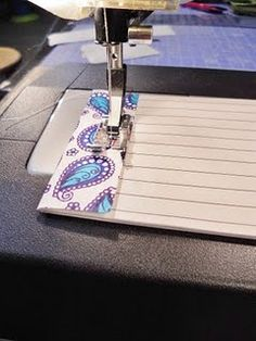 Such a simple but great idea - make note pads from scraps of patterned paper.