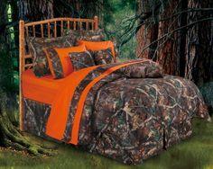 Oak Camo Twin Size Bedding Set - Sheplers