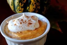 pumpkin pie mousse -healthy! Yummy and guilt free!
