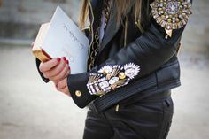 Oh, loving the arm deets on the  jacket and I believe a Chloe invitation which I will gladly hop to