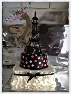 Kayla's Paris Party by TheHiddenCakery, via Flickr. My cousin is SO talented!