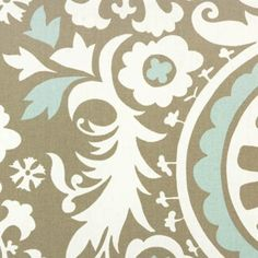 by Fashion Fabrics ClubUS · Suzani Powder Blue Contemporary Drapery Fabric		 - $7.75