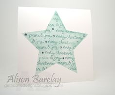 Gothdove Designs - Alison Barclay #stampinup #stampinupaustralia #gothdovedesigns #colorcoach #goodgreetings #starframelits #christmas #card #OneLayerCard