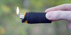 FireSleeve: Waterproof Bic Lighter Tool - The FireSleeve is another kickstarter project that appears to be an interesting idea whichcan both keep a Bic lighter waterproof and make it easier to light a fire when needed the most...