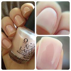 nude nail polish. OPI's Bubble Bath.