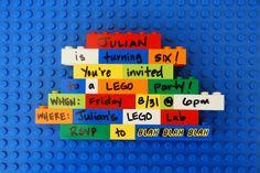 Cute Lego party invitation #lego #invitation