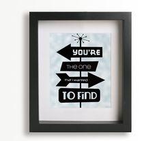 Green Eyes / Coldplay - Music Lyric Art Print - wedding gift idea, wedding sign, home decor, anniversary, signs. $19.95, via Etsy.