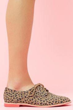 Leopard Oxfords!