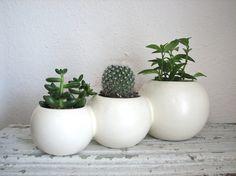 Vintage Pottery 3-Part Planter