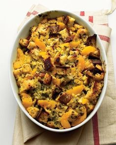 Susan's Peach Stuffing ... Sounds weird with peaches. Worth a try!