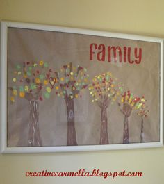 Family Trees: Arms/Hands in brown paint are the trees finger prints in colored paint are the leaves. so cute!