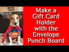Gift Card Holder made with the Envelope Punch Board