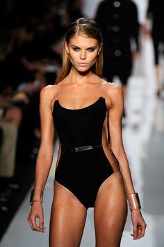 Maryna Linchuk fashion week catwalk