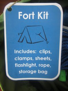 Fort Kit...cute gift idea