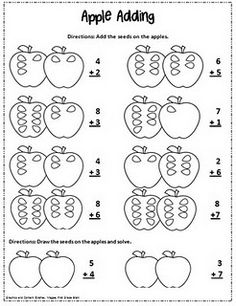 Apple Adding... More geared toward first grade... Could be adapted for a younger grade.