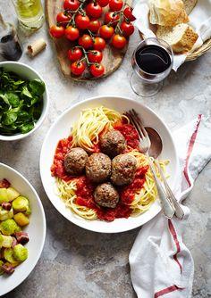 meatballs with #pasta and sausage  #hellenicgourmet_hellenicdutyfree