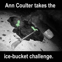 Ann Coulter takes the ice-bucket challenge.
