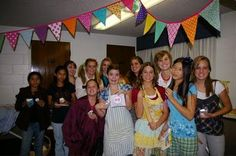 YW in excellence: To show off the projects the did for Personal Progress the girls dressed up in an outfit that showed off what they had accomplished. During the program they stood in a line in the front of the room and each said... I am dressed sew perfectly in {value the chose}. I used {value} to pattern my life by {experience the did}. I learned..........