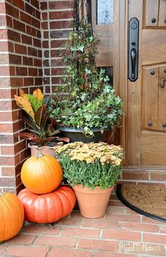 Creating Fall Vignettes~Why I do it... - All Things Heart and Home