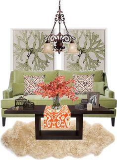 """""""Green Living Room"""" by arsheehan on Polyvore"""