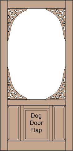 Coppa Woodworking Wood Screen Doors and Wood Storm Doors - With built in doggie doors. How cool.