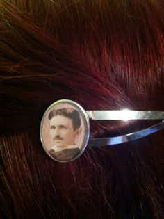 Nikola Tesla Hair Clip