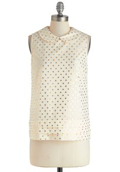 wink and a style polka-dotted top
