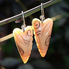 earrings by 2roses jewelry - carved tagua nut