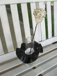 Every vase needs a skirt! Sometimes upcycling fails can become upcycling successes, as this tutorial shows!